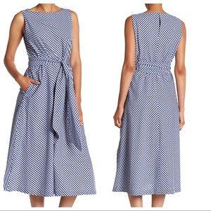 Anne Klein Sleeveless Gingham Fit&Flare Midi Dress